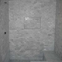 bathrooms - basketweave,  Remodelogue blog shower  basketweave, marble subway tile