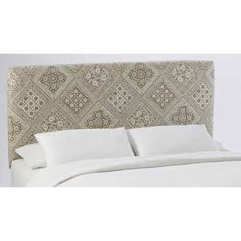 Beds/Headboards - Skyline Furniture Slipcover Headboard in BandanaTaupe - headboard