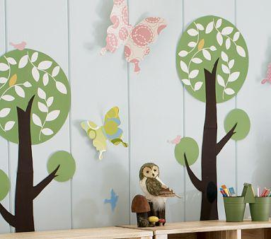 Art/Wall Decor - Woodland Tree Decal | Pottery Barn Kids - Kids Room, Art Work