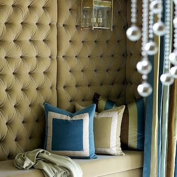 Velvet Tufted Alcove, Contemporary, living room, Tobi Fairley