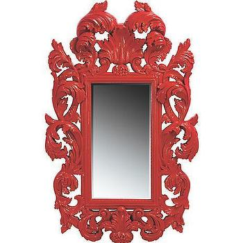 American Signature Furniture, Accents, Botticelli Red Mirror