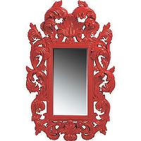 Mirrors - American Signature Furniture - Accents - Botticelli Red Mirror - mirror