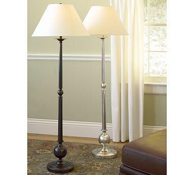 Gillian Candlestick Floor Lamp Base Pottery Barn