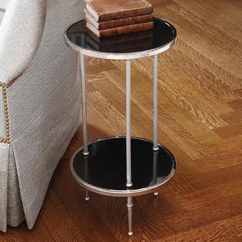 Tables - Global Views 2 Tiered Petite Table in Nickel - 9.91247 - side table