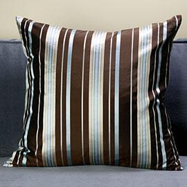 Mirage Pillow, Chocolate/Blue, Pillows, Bedding & Pillows, Z Gallerie