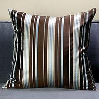 Pillows - Mirage Pillow - Chocolate/Blue | Pillows | Bedding & Pillows | Z Gallerie - pillow