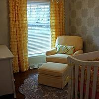 Miscellaneous - nursery4.jpg (image) - yellow, gray, nursery, ruffles, stencil, white, crib