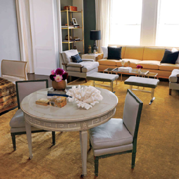 Greek Key Table,  Eclectic, living room, Nate Berkus Design