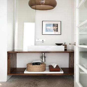 House & Home - bathrooms - modern washstand, modern washstand ideas, vessel sink, wall mounted faucet,  Tina Tymchuk - Modern bathroom design
