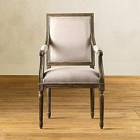 Seating - Vintage French Square Armchair - Dining Chair Collection - Furniture - dining chair