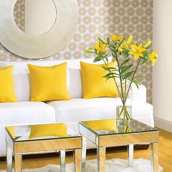 Gray and Yellow Design, Contemporary, bedroom