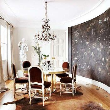 Velvet Dining Chairs, Eclectic, dining room, My Home Ideas