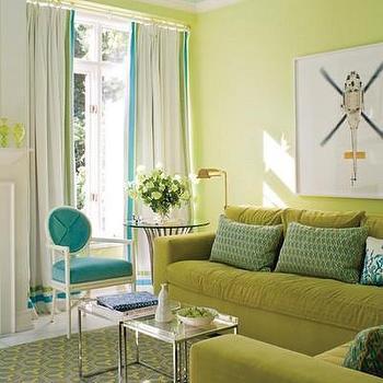 Turquoise Drapes Contemporary Nursery Jenn Feldman Designs