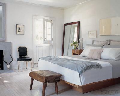 Wood Platform Bed Cottage Bedroom Elle Decor