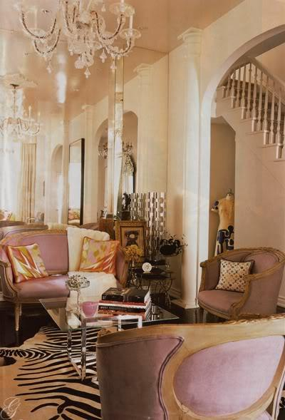 Mauve Settee Eclectic Living Room House Amp Home