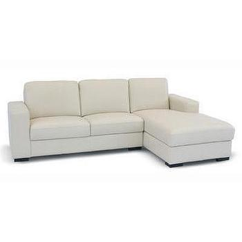 Seating - Modern Dose - sofa, cream leather sectional
