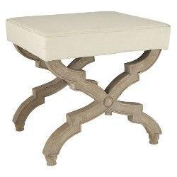 Seating - Vanity Stool | Stools & Ottomans | Wisteria - x stool, cream