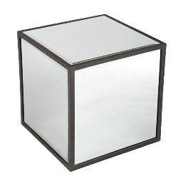 Mirrored Cube Table, Decorative Coffee Table, Wisteria