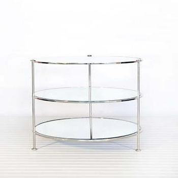 Tables - Worlds Away : Product Details - table, nickel and mirror
