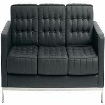 Seating - Modern Dose - sofa, black, leather, tufted