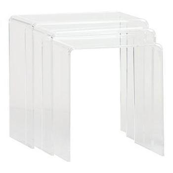 Tables - Modern Dose - side table, nesting, clear, acrylic