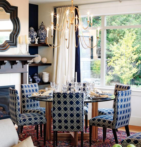 Navy Blue Dining Chairs - Cottage - dining room - Sarah Richardson ...
