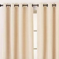 miscellaneous - Pottery Barn, panel,  Pottery Barn Contrast Band panel curtain chocolate brown and cream