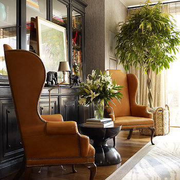 Wingback Chairs, Eclectic, living room, Thom Filicia