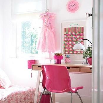 Hot Pink Desk Chair, Contemporary, girl's room, House & Home