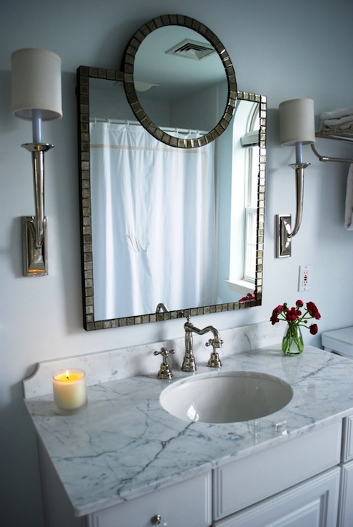 Ballard Designs Mirror Transitional Bathroom