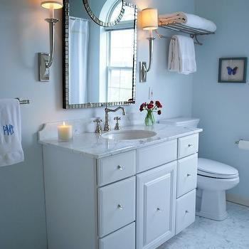 Blue Paint Color, Transitional, bathroom, Benjamin Moore Seafoam, Teresa Meyer Interiors