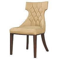 Seating - Regis Leather Chairs (Set of 2) | Overstock.com - tufted, leather, chair