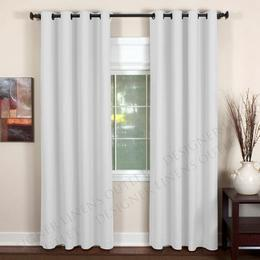 Window Treatments - DesignerLinensOutlet.com - Elrene Essex Grommet Linen Panel - White - window panels