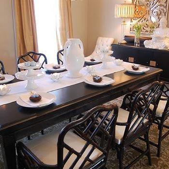 Easter Tablescape, Asian, dining room, Benjamin Moore Grant Beige