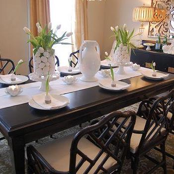 Easter Table Setting Ideas, Asian, dining room, Benjamin Moore Grant Beige