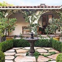 Traditional Home - gardens - garden, garden fountain,  Gorgeous Garden- black fountain