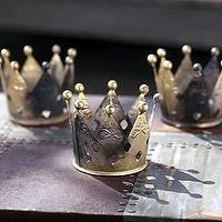 Decor/Accessories - Mothology - The Science of Style - Metal Crown Votives - crown, votives