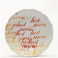 Decor/Accessories - UrbanOutfitters.com > Hidden Meaning Plates - Hot Mess - decorative, plates