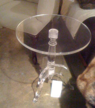 Casper Clear Acrylic Side Table Round Small Tables For Sofa High End Home Modern Decor Living