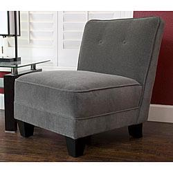 Monelle Grey Velvet Armless Chair, Overstock.com