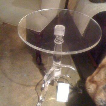 Tables - Casper Clear Acrylic Side Table Round Small Tables for Sofa High End Home Modern Decor Living Room Furniture - round acrylic table,