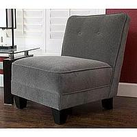 Seating - Monelle Grey Velvet Armless Chair | Overstock.com - gray, tufted, chair