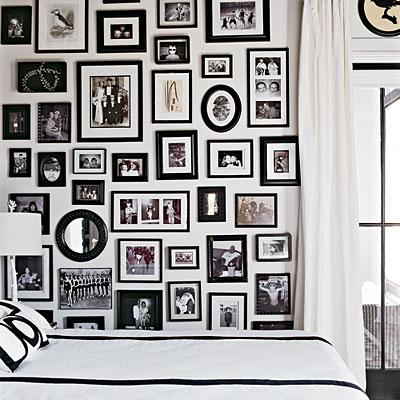 Family Photo Walls - Transitional - bedroom - Coastal Living