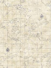 Antique World Map Wallpaper