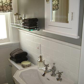 Gray Bathroom, Contemporary, bathroom, Benjamin Moore Graystone, Caitlin Wilson Design
