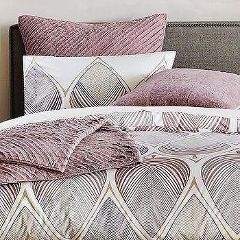 Organic Summer Leaf Duvet + Shams, west elm