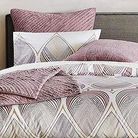 Bedding - Organic Summer Leaf Duvet + Shams | west elm - duvet, bedding, pink, purple