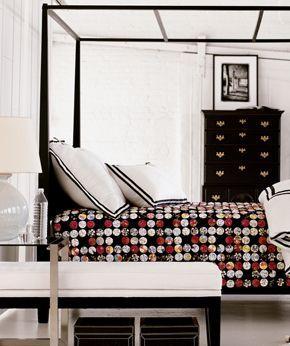 Black Canopy Bed - Contemporary - bedroom