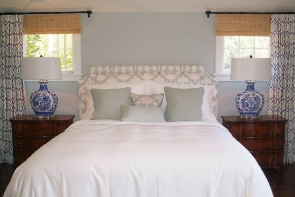 light blue paint colors traditional bedroom farrow