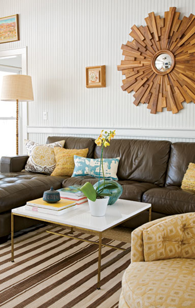 Yellow And Brown Room Contemporary Living Angie